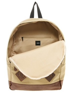 Image 4 ofASOS Canvas Backpack.