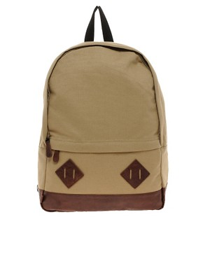 Image 1 ofASOS Canvas Backpack.