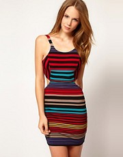 Nookie Beach Spice Market Stripe Cut Out Beach Dress