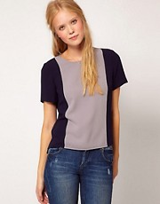Whistles Colour Block Top
