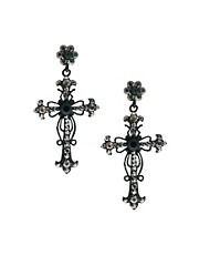 Love Rocks Cross Drop Earrings