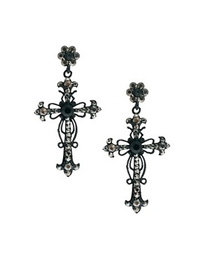 Image 1 ofLove Rocks Cross Drop Earrings