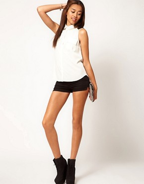 Image 1 ofRiver Island Twill High Waisted Short