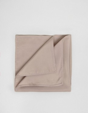 ASOS WEDDING Pocket Square In Taupe