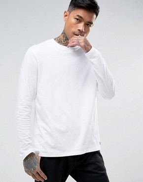 Element Basic Long Sleeve T-Shirt in White