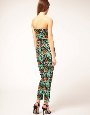 Image 2 ofASOS Jumpsuit in Tropical Print