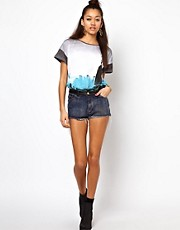 Motel Acid Wash Denim Short