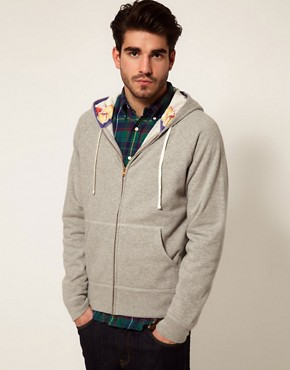 Image 1 ofGant Rugger Sweatshirt with Floral Hood