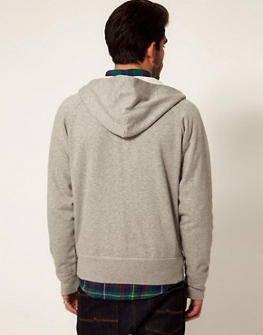 Image 2 ofGant Rugger Sweatshirt with Floral Hood
