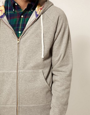 Image 3 ofGant Rugger Sweatshirt with Floral Hood