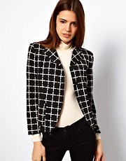 ASOS Blazer In Ponte Check