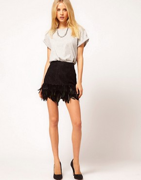 Image 1 ofASOS Skirt in Feather and Lace