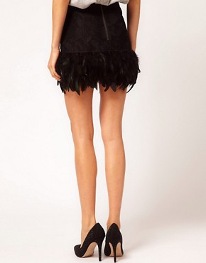 Image 2 ofASOS Skirt in Feather and Lace