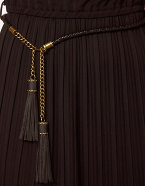 Image 3 ofBeloved Dress with Pleated Skirt and Tassel Belt