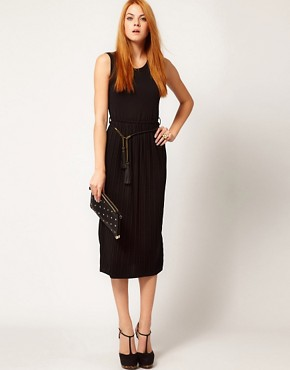 Image 4 ofBeloved Dress with Pleated Skirt and Tassel Belt
