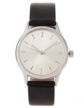 Image 2 ofASOS Brushed Silver Grandad Watch