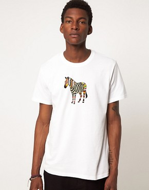 Image 1 ofPaul Smith Jeans Zebra T-Shirt