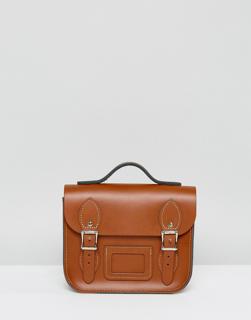 Leather Satchel Mini Festival Backpack - Tan