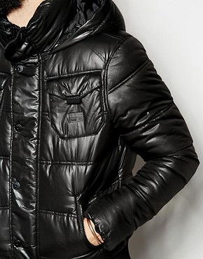 g star g star quilted bomber jackets whistler hooded at asos. Black Bedroom Furniture Sets. Home Design Ideas
