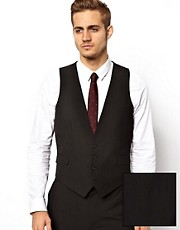 ASOS Slim Fit Waistcoat In Black