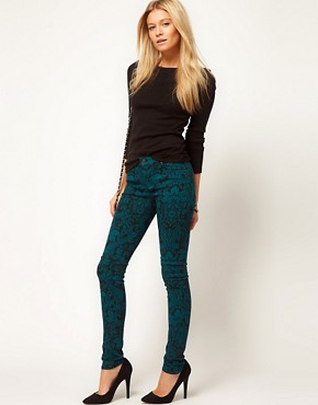 Image 4 ofASOS Skinny Jean in Floral Lace Print #4