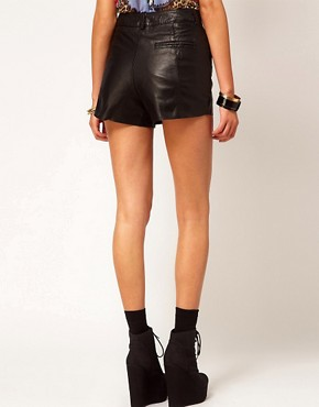 Image 2 ofRiver Island Leather Shorts