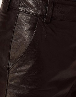 Image 3 ofRiver Island Leather Shorts