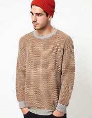 Levis Made &amp; Crafted Jumper Crew Neck Waffle Knit