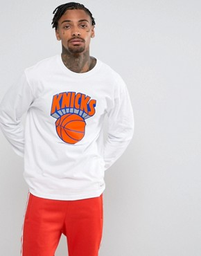 Mitchell & Ness NBA New York Knicks Long Sleeve Top