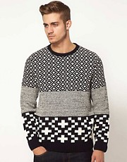 ASOS Block Stripe Sweater