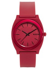 Nixon Time Teller P Dark Red Watch