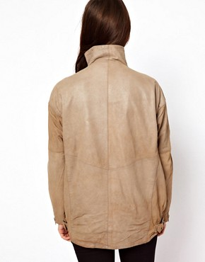 Image 2 ofMuubaa Leather Marondera Slouch Jacket