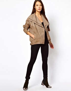 Image 4 ofMuubaa Leather Marondera Slouch Jacket