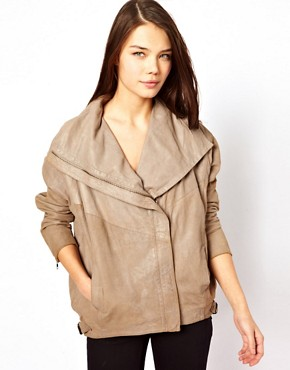 Image 1 ofMuubaa Leather Marondera Slouch Jacket