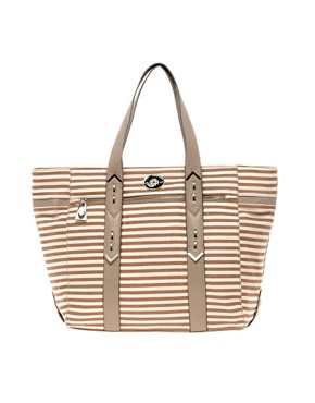 Image 1 ofMischa Barton Echo Ribbed Tote Bag