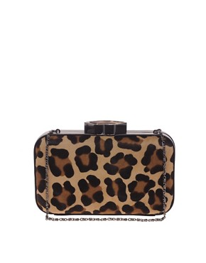 Image 1 ofLulu Guinness Leopard Print Clutch Bag