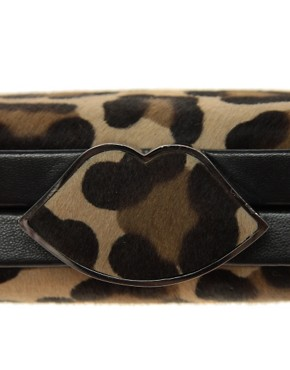 Image 4 ofLulu Guinness Leopard Print Clutch Bag