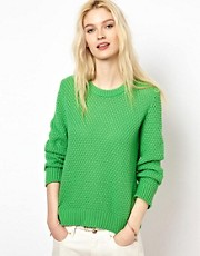 YMC Handknit Moss Stitch Jumper