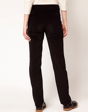Image 2 ofBA&amp;SH Tailored Slim Trousers with Roll Up Hem