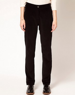 Image 4 ofBA&amp;SH Tailored Slim Trousers with Roll Up Hem