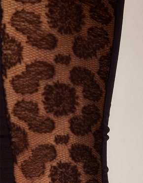 Image 2 ofASOS Side Panel Lace Footless Tights