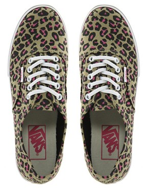 Image 3 ofVans Authentic Lo Pro Leopard Trainers