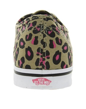 Image 4 ofVans Authentic Lo Pro Leopard Trainers