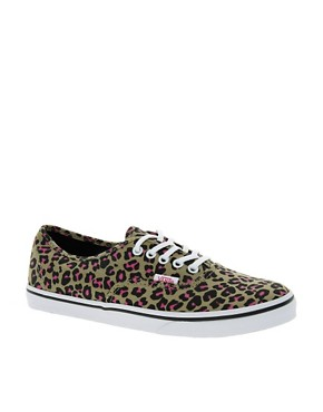 Image 1 ofVans Authentic Lo Pro Leopard Trainers