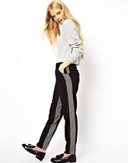 ASOS Peg Trousers with Monochrome Panels