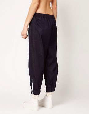 Image 2 ofASOS REVIVE Denim Trouser with Elasticated Cuff