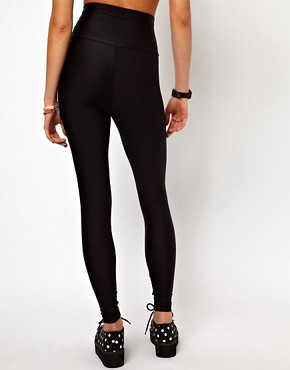 Image 2 ofAmerican Apparel High Shine High Waist Leggings