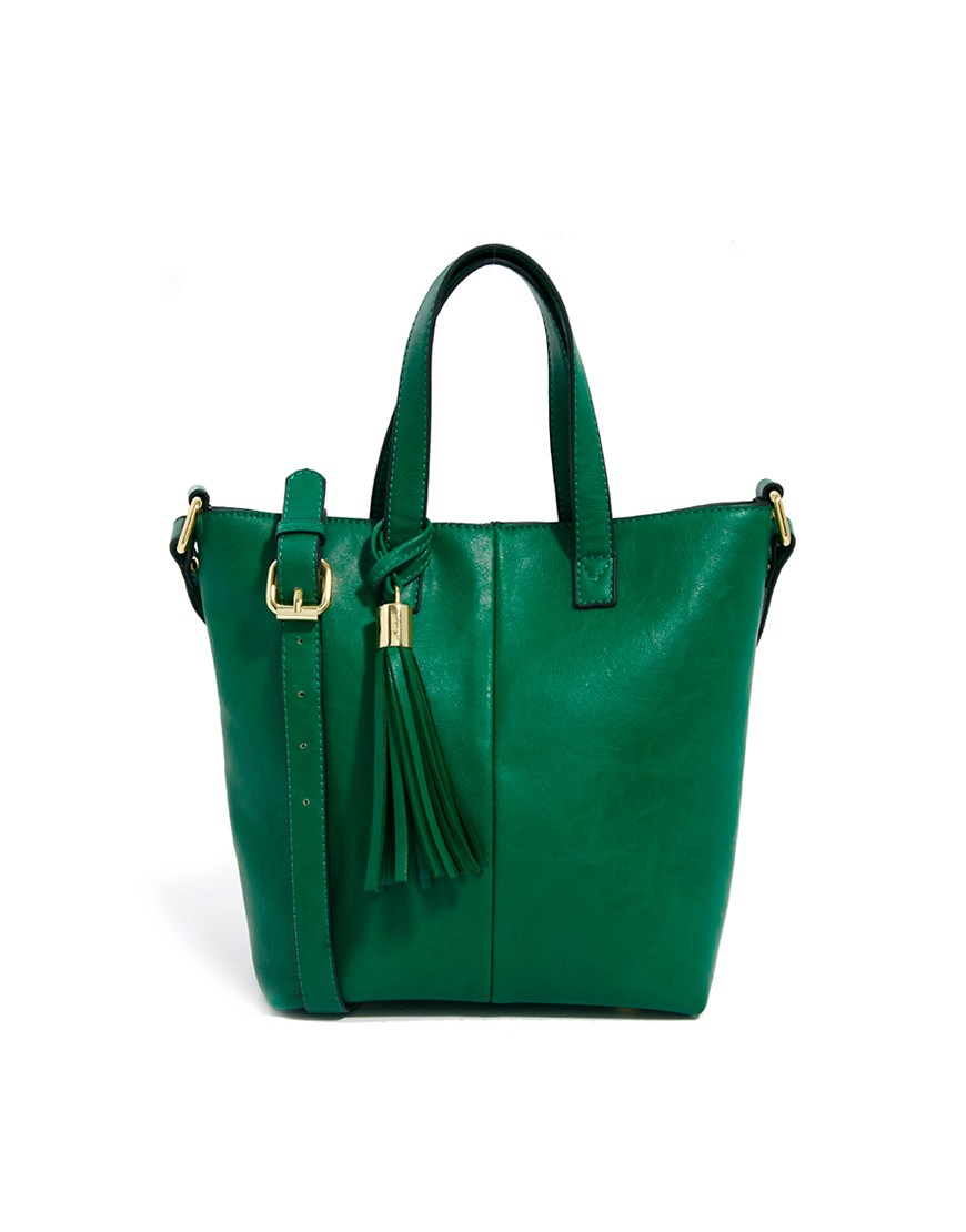 Image 1 of ASOS Mini Tote Bag With Tassel Detail