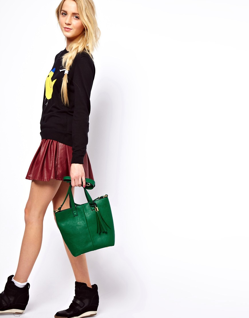 Image 3 of ASOS Mini Tote Bag With Tassel Detail