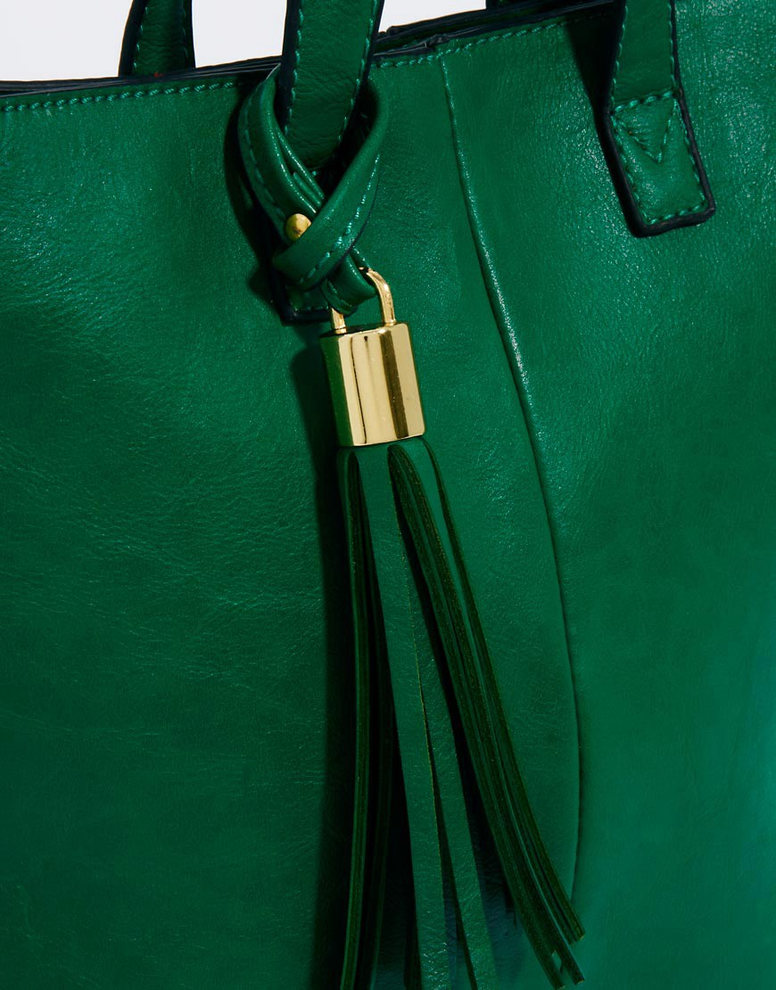 Image 4 of ASOS Mini Tote Bag With Tassel Detail